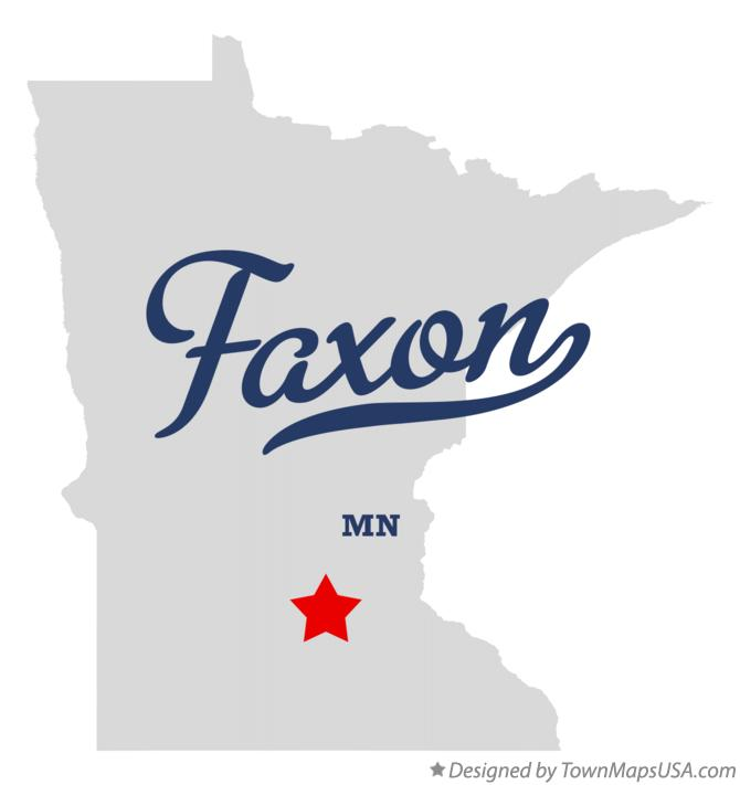 Map of Faxon Minnesota MN