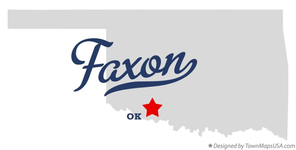 Map of Faxon Oklahoma OK