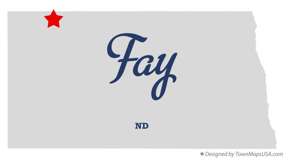 Map of Fay North Dakota ND