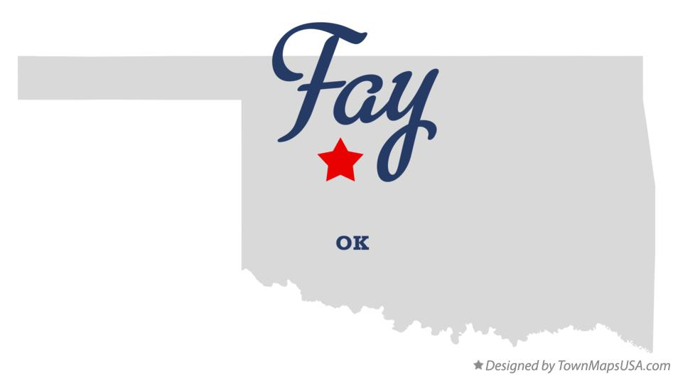 Map of Fay Oklahoma OK