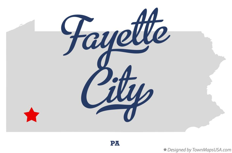 Map of Fayette City Pennsylvania PA