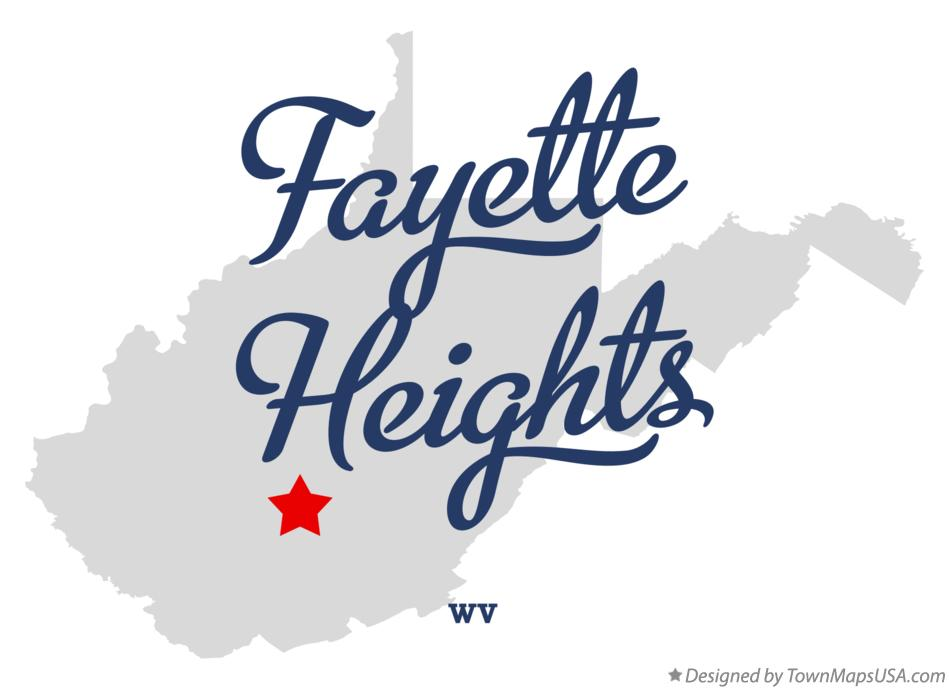 Map of Fayette Heights West Virginia WV