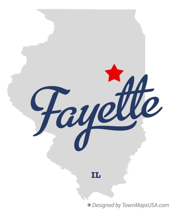 Map of Fayette Illinois IL