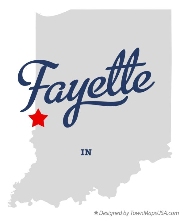 Map of Fayette Indiana IN