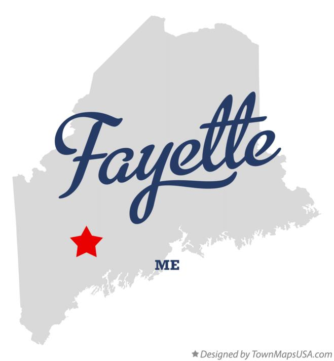 Map of Fayette Maine ME