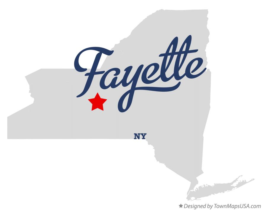 Map of Fayette New York NY
