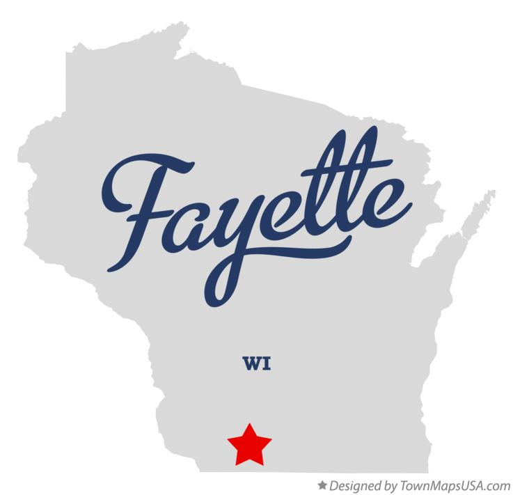 Map of Fayette Wisconsin WI