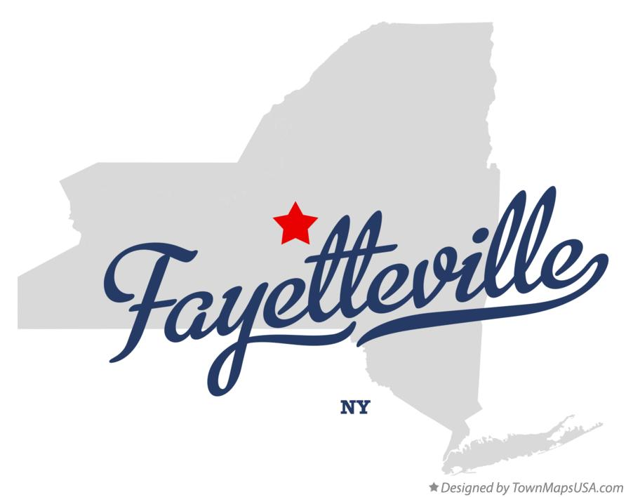 Map of Fayetteville New York NY