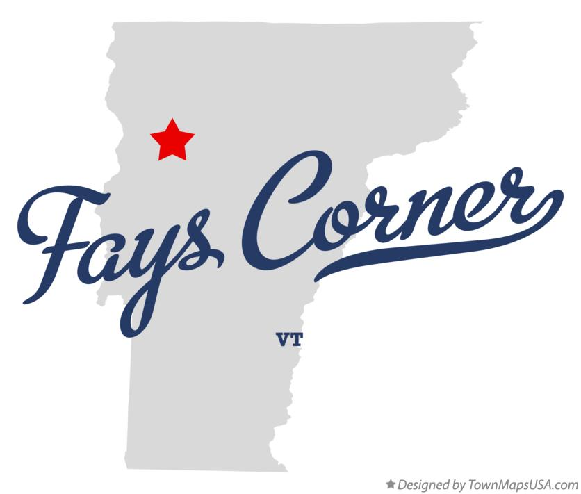 Map of Fays Corner Vermont VT