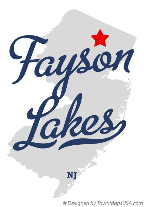 Map of Fayson Lakes New Jersey NJ