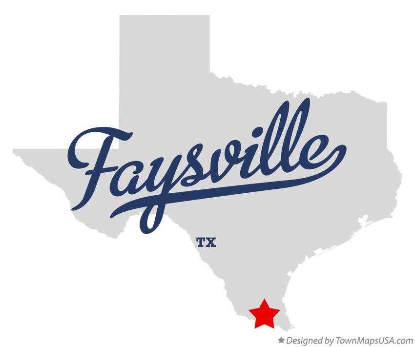 Map of Faysville Texas TX