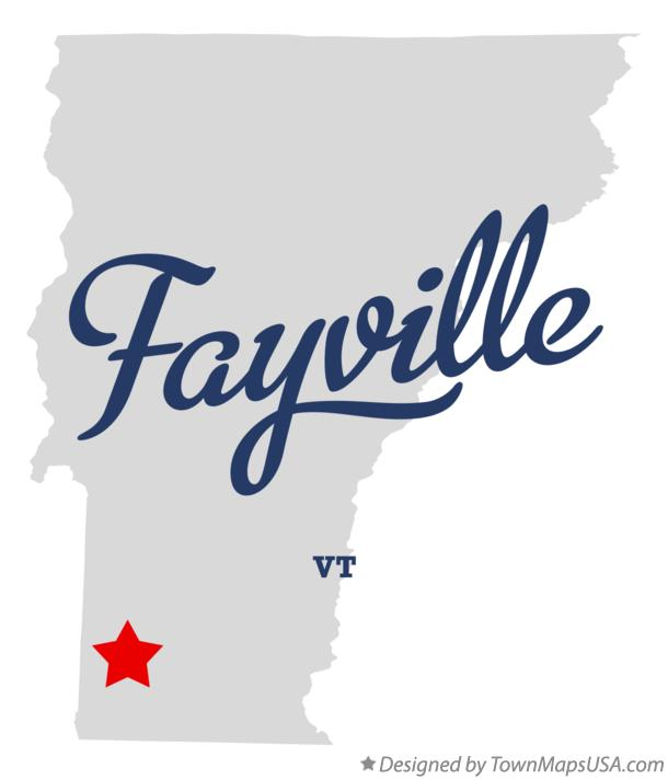 Map of Fayville Vermont VT