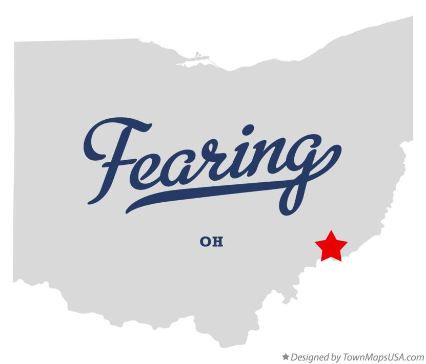 Map of Fearing Ohio OH