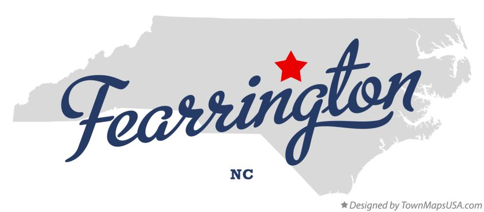 Map of Fearrington North Carolina NC