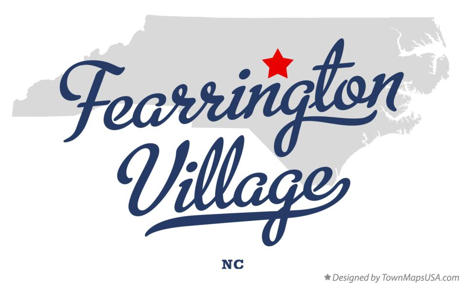Map of Fearrington Village North Carolina NC