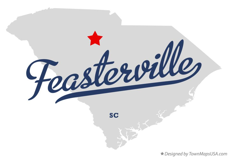 Map of Feasterville South Carolina SC