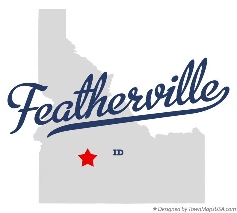 Map of Featherville Idaho ID