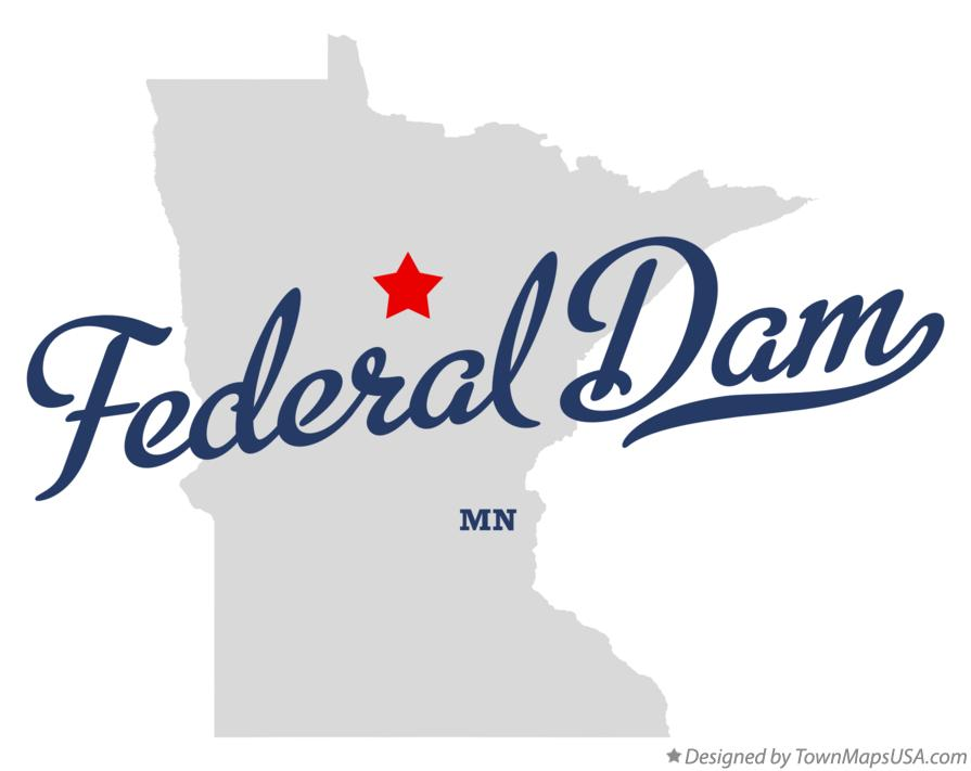 Map of Federal Dam Minnesota MN