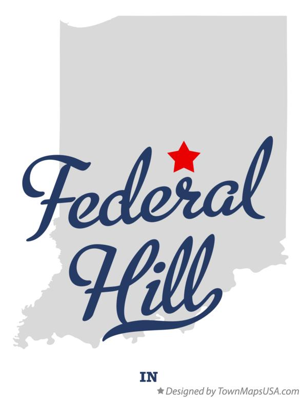 Map of Federal Hill Indiana IN
