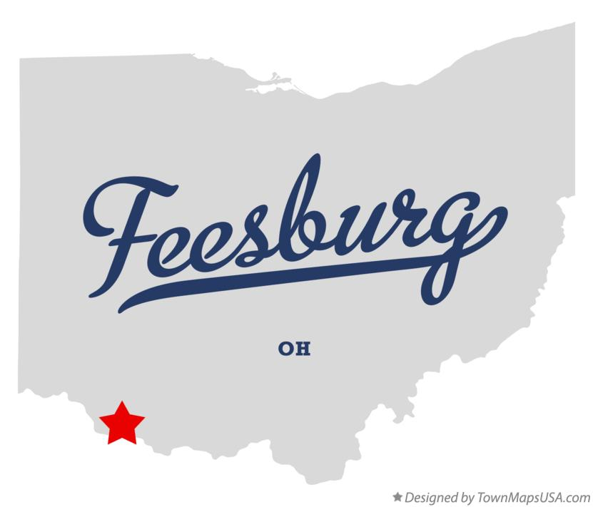 Map of Feesburg Ohio OH
