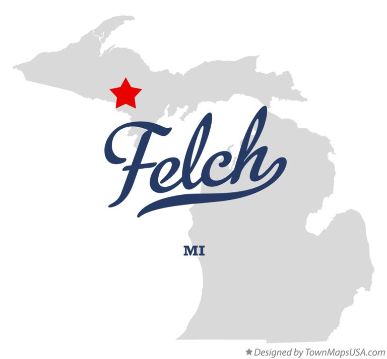 Map of Felch Michigan MI