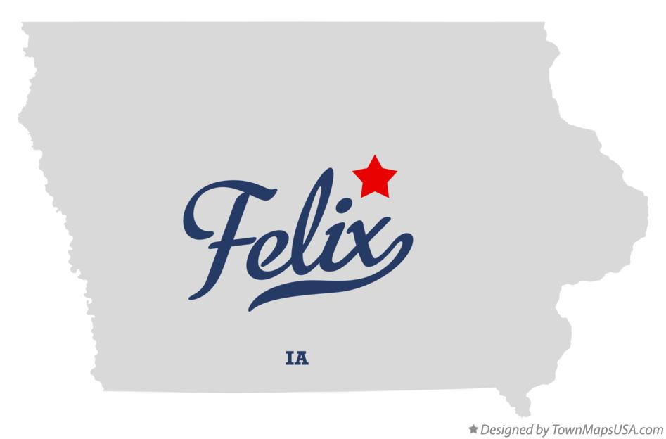 Map of Felix Iowa IA
