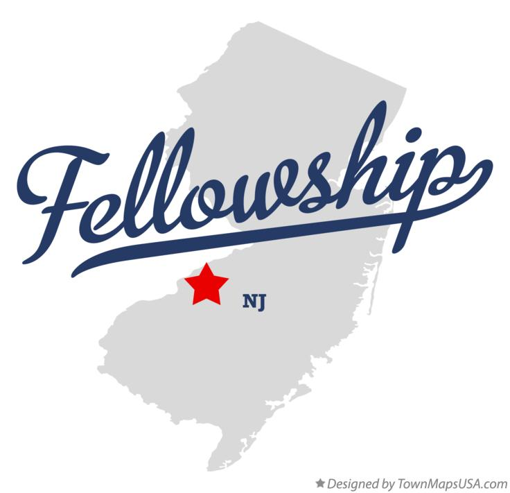 Map of Fellowship New Jersey NJ