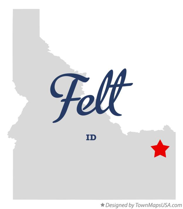 Map of Felt Idaho ID