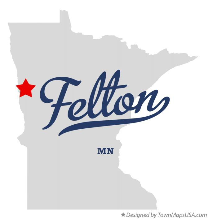 Map of Felton Minnesota MN