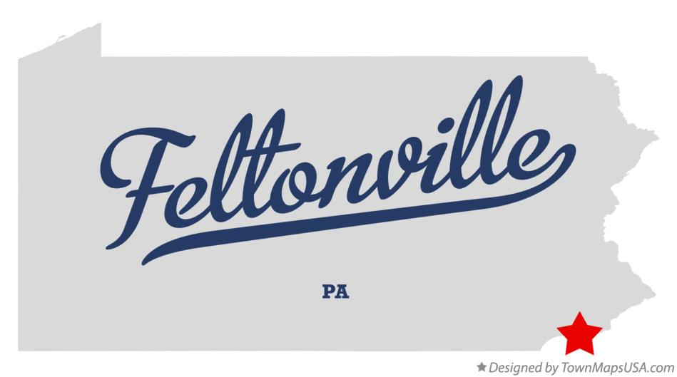 Map of Feltonville Pennsylvania PA