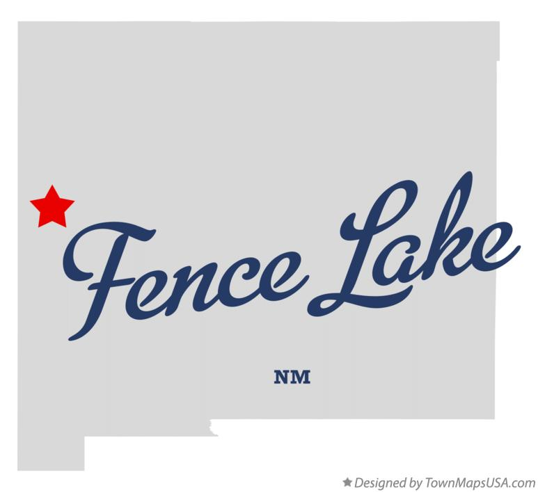 Map of Fence Lake New Mexico NM