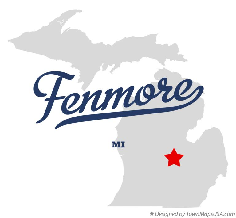 Map of Fenmore Michigan MI