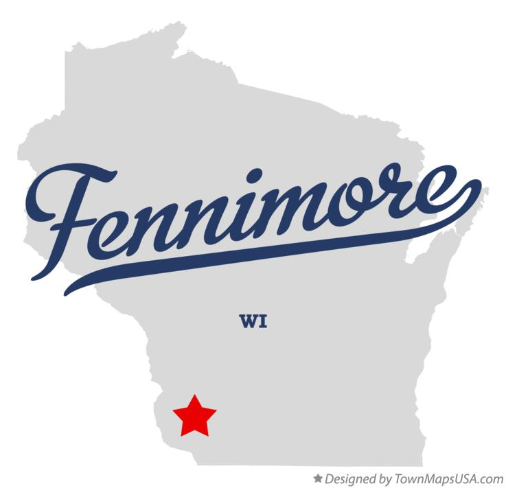 Map of Fennimore Wisconsin WI