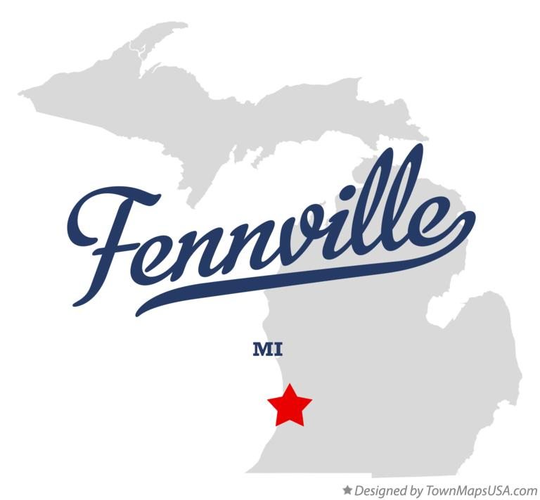 Map of Fennville Michigan MI