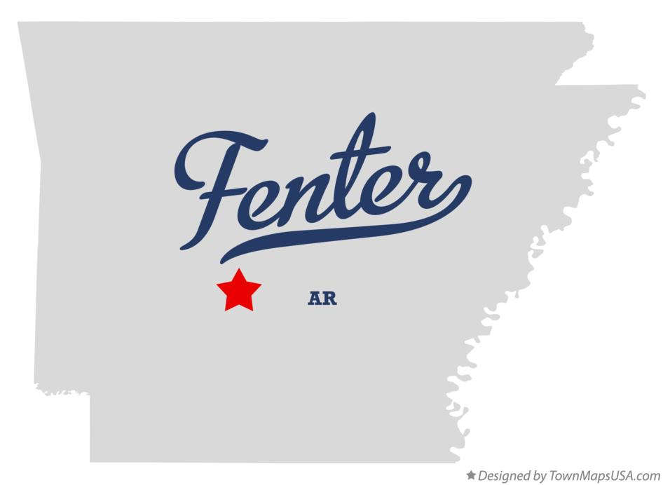 Map of Fenter Arkansas AR