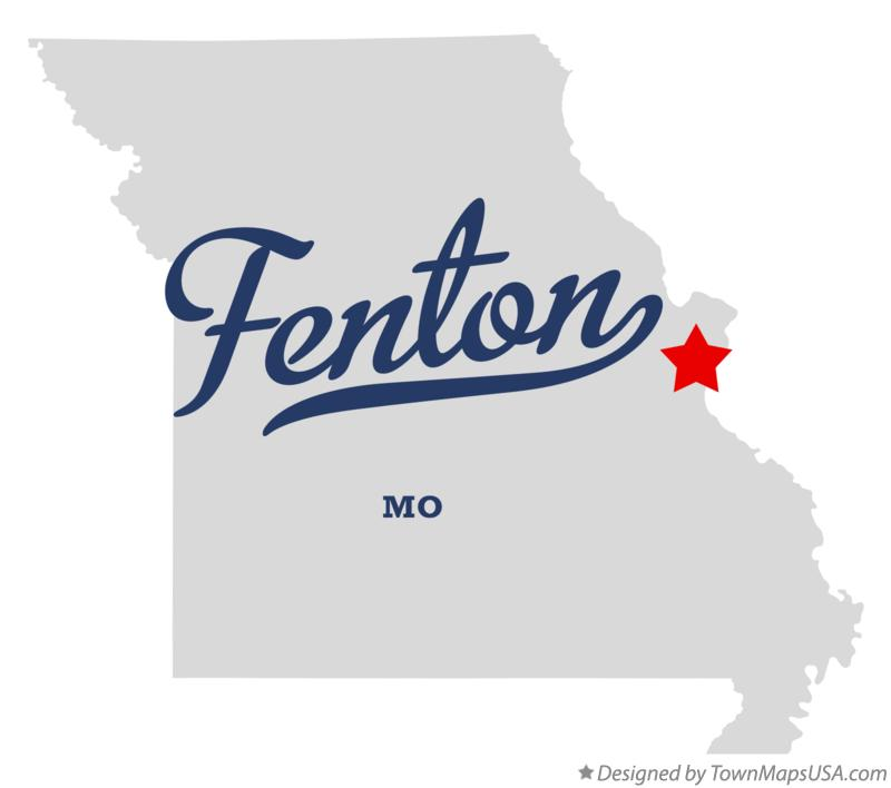 Map of Fenton Missouri MO