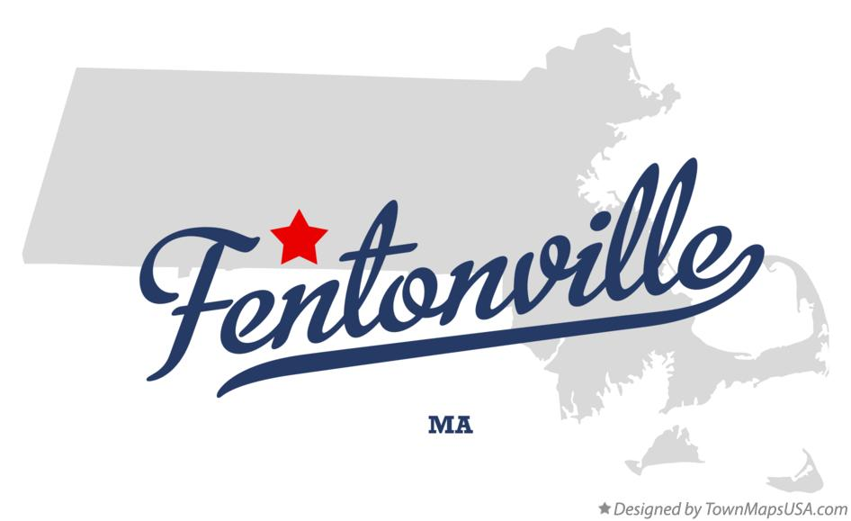 Map of Fentonville Massachusetts MA