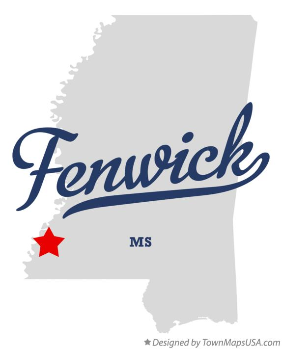 Map of Fenwick Mississippi MS