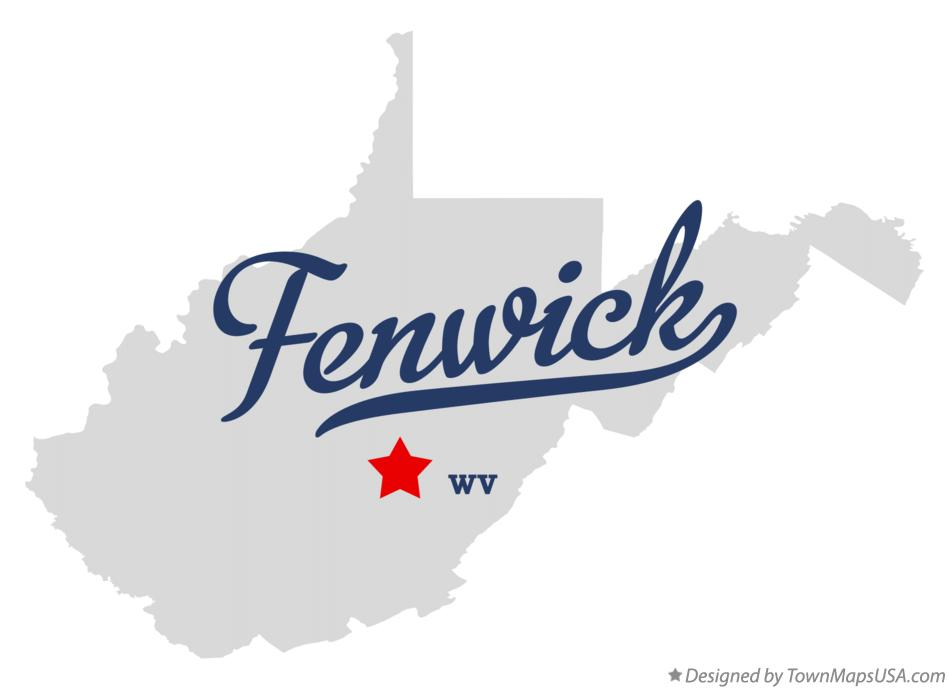 Map of Fenwick West Virginia WV