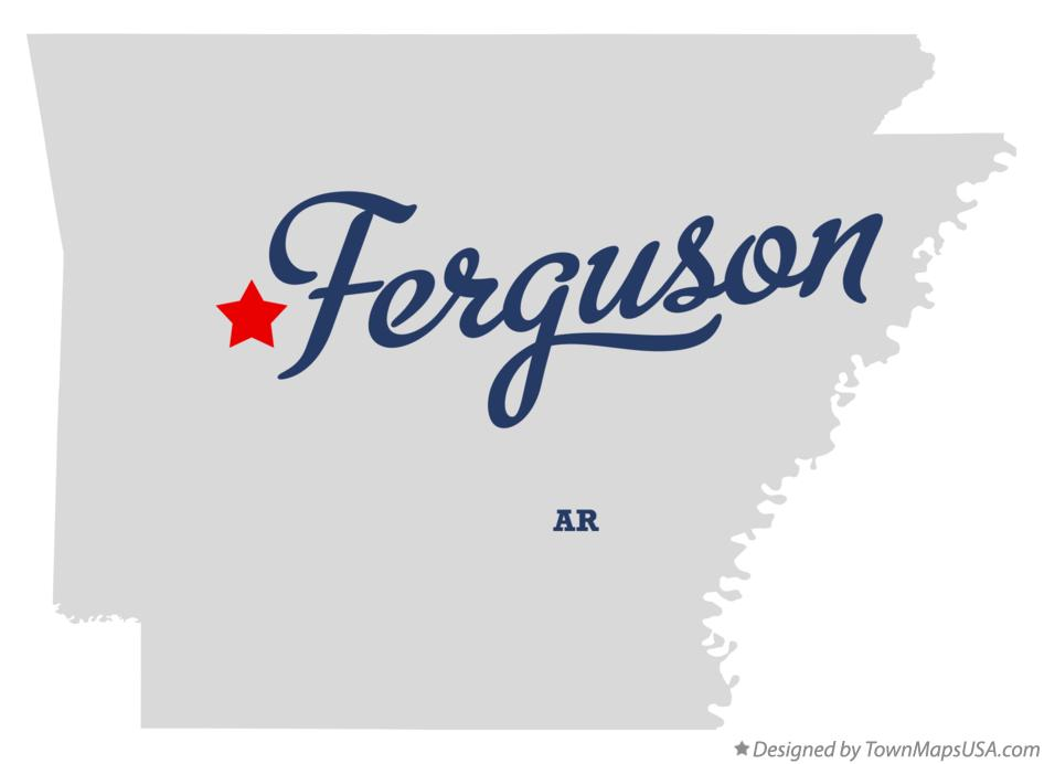 Map of Ferguson Arkansas AR