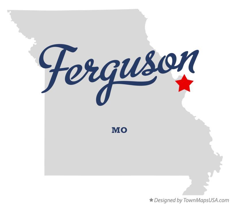 Woodson Terrace (MO) United States  city photos : Map of Ferguson Missouri MO