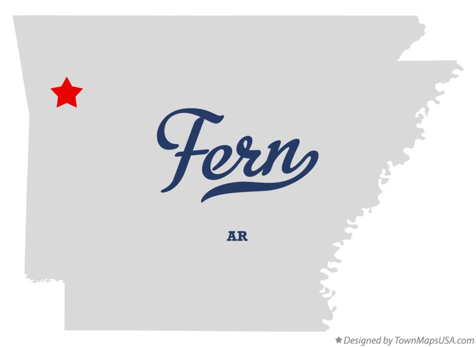 Map of Fern Arkansas AR