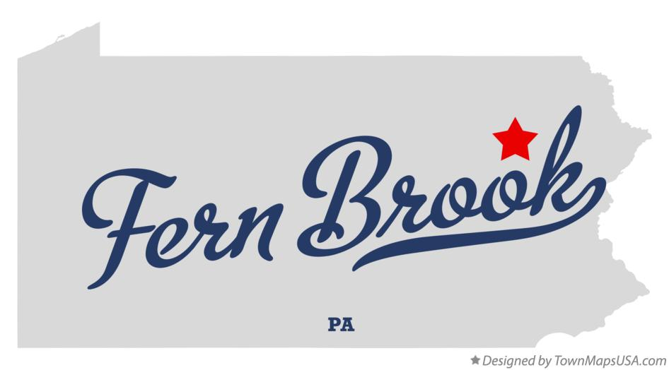 Map of Fern Brook Pennsylvania PA