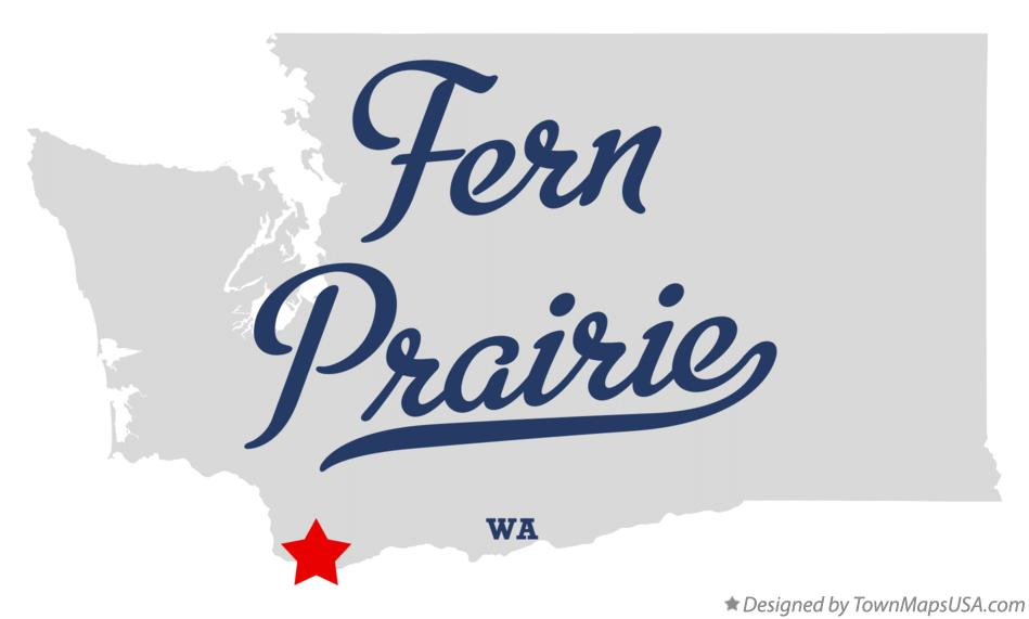 Map of Fern Prairie Washington WA