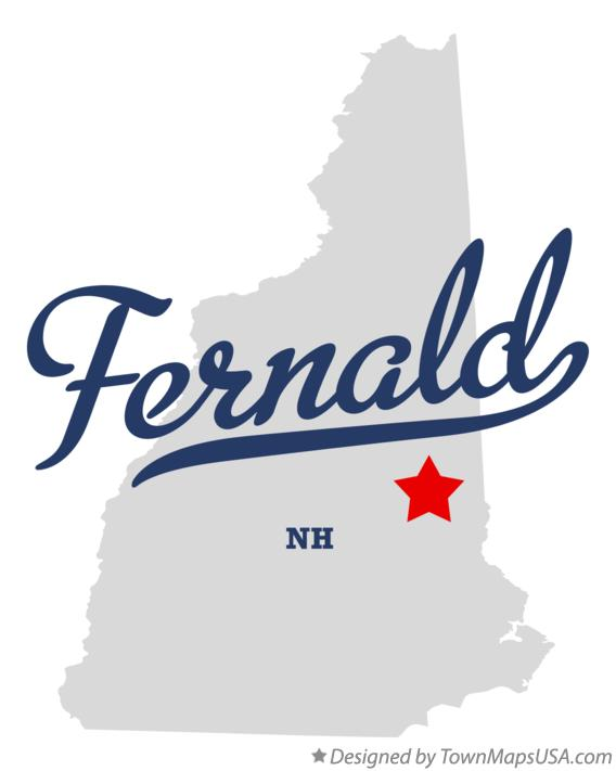 Map of Fernald New Hampshire NH