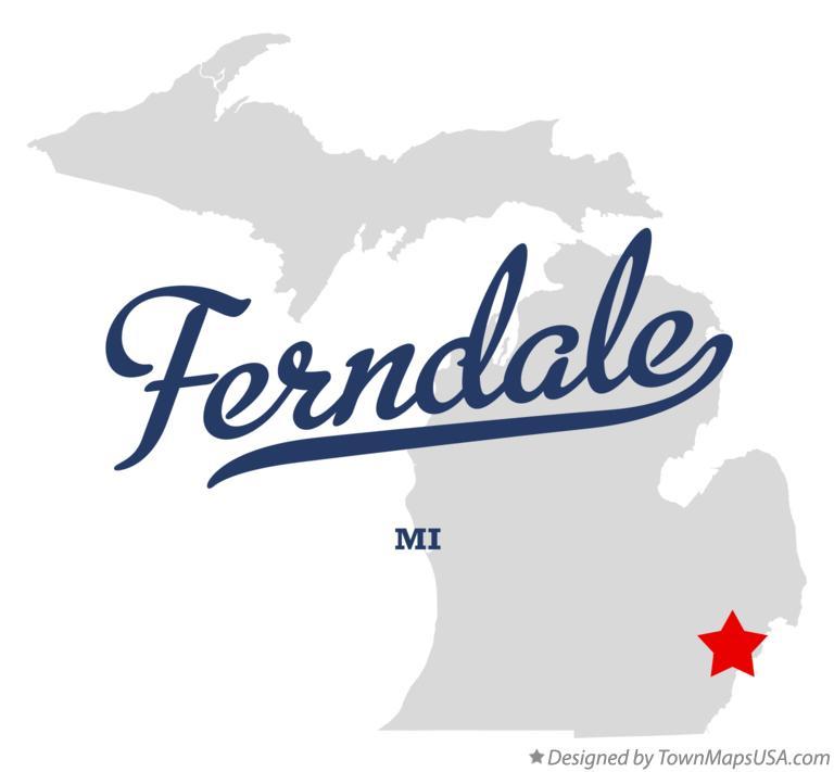 Ferndale Michigan Map.Map Of Ferndale Mi Michigan