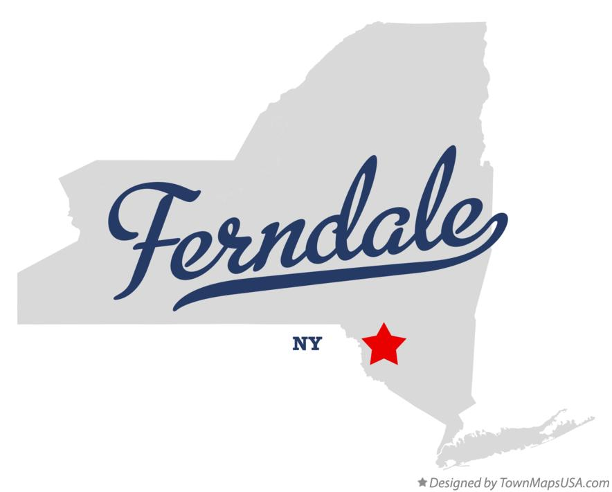 Map of Ferndale New York NY