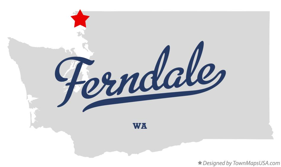 Map of Ferndale Washington WA