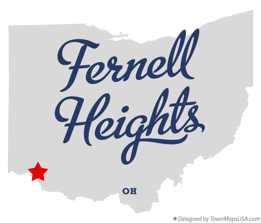 Map of Fernell Heights Ohio OH