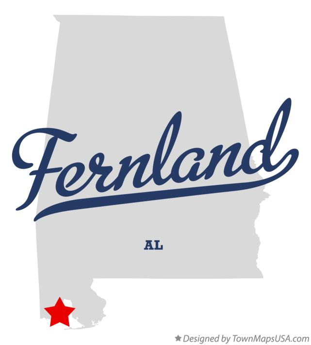 Map of Fernland Alabama AL